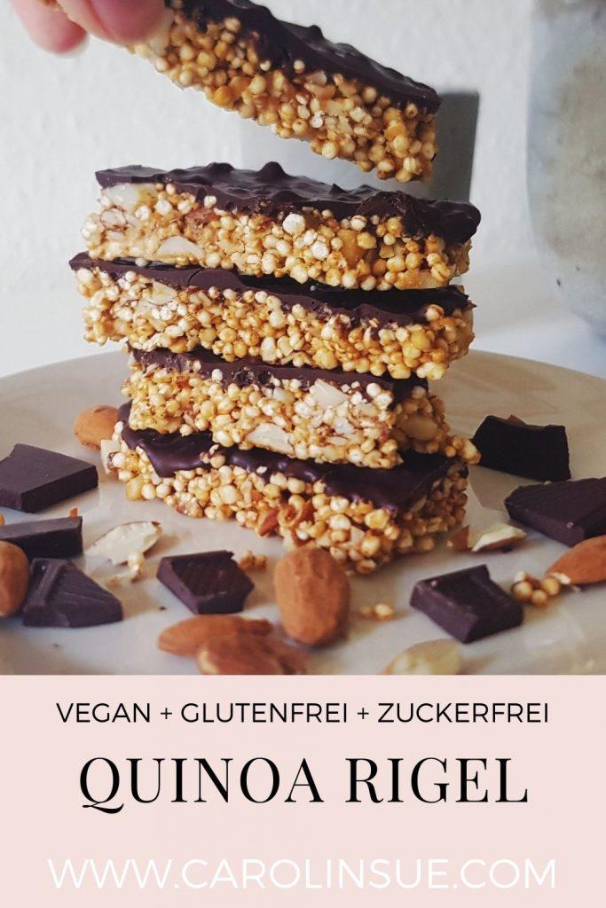 Vegane Quinoa Mandel Riegel