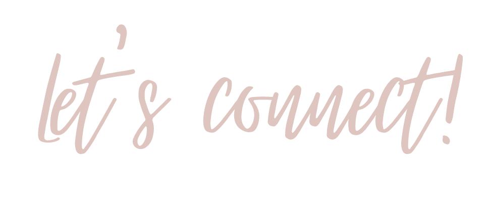 Let's Connect Kontakt Schriftzug